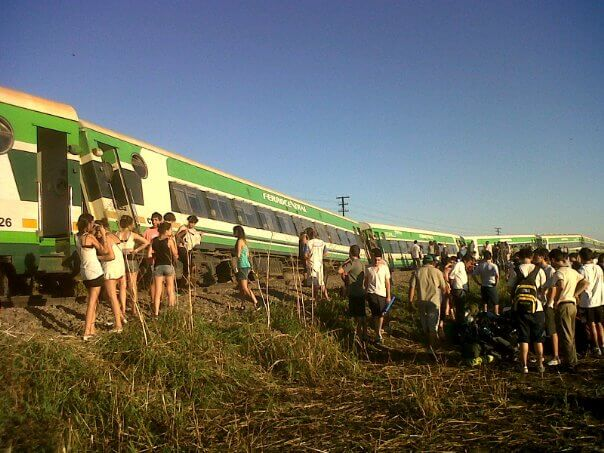 Accidente en el antiguo tren a Tucumán