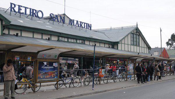 Estación Retiro de la línea San Martín