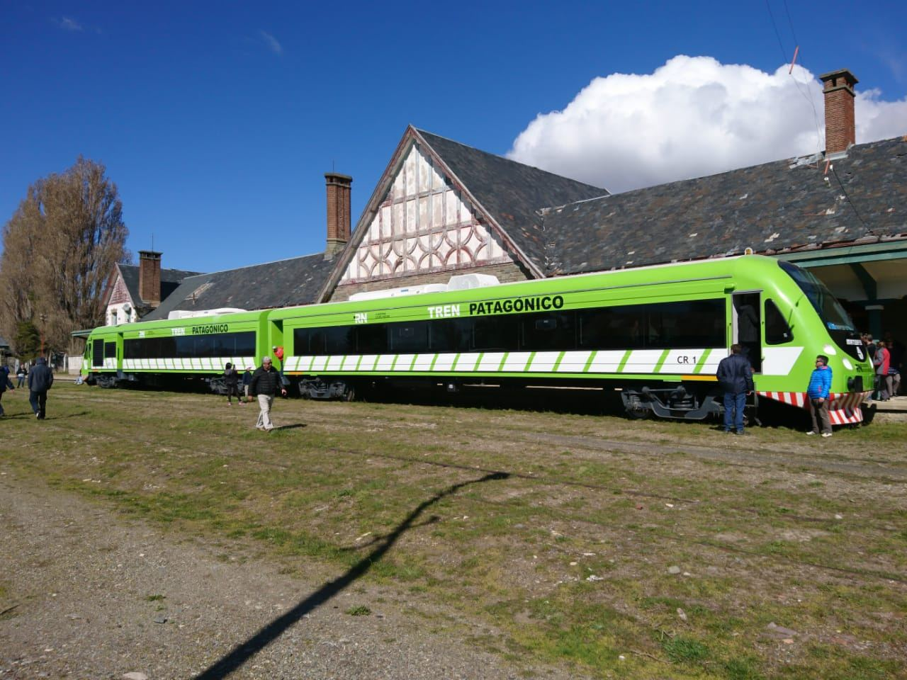 Tren recién arribado a a Estación de Bariloche. ¿Cómo se puede llegar a esta ciudad en tren desde Buenos Aires?