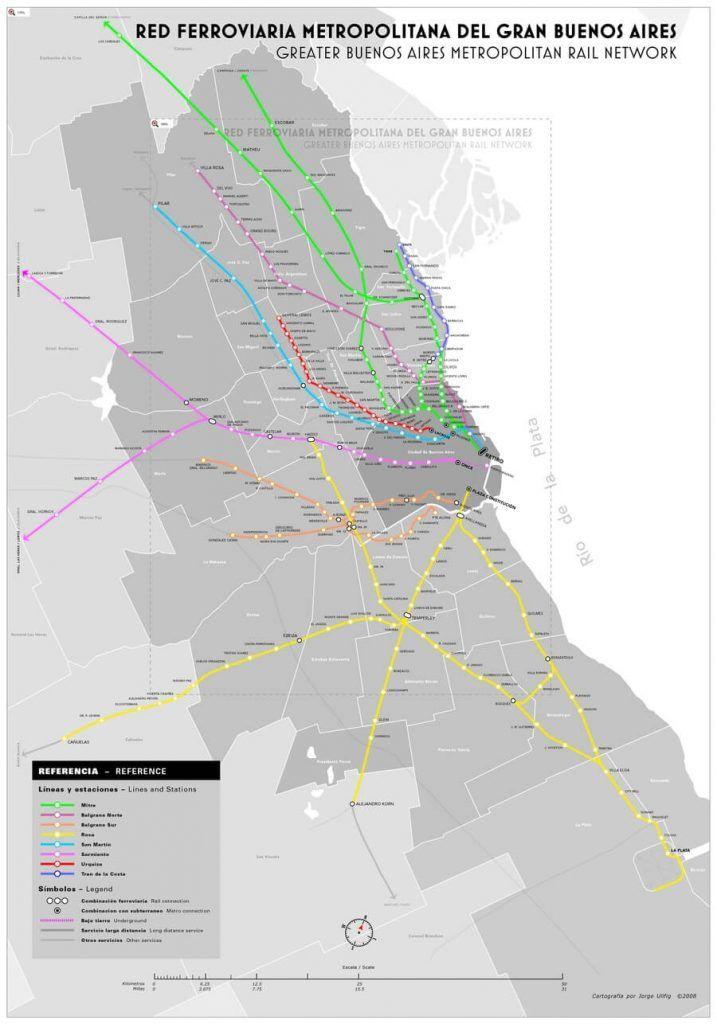 Red de Trenes Urbanos en Buenos Aires