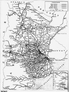 Red Argentina de Trenes hacia 1960