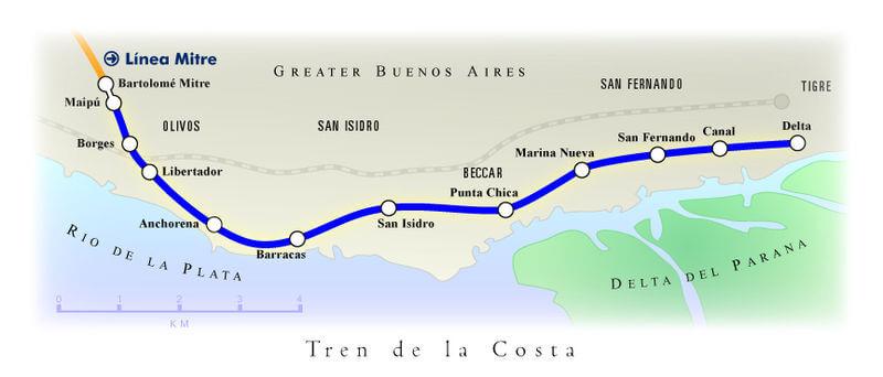 Viaje en el Tren de la Costa bordeando el Río de la Plata